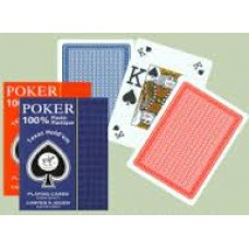 Карты 100% пластик Poker, Jumbo Index 55 шт.